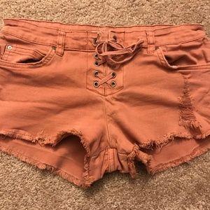 Billabong Cutoff Lace-Up Shorts